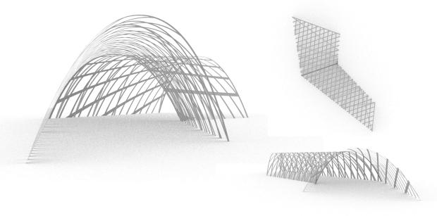 entance in art pavilion - final renders